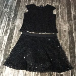 By & By Girl Sequin Outfit